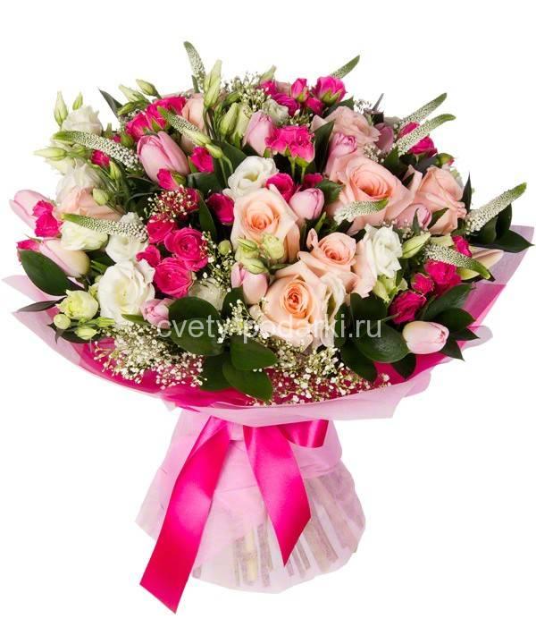 Вязание спицами - цветы розы